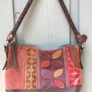 Fossil Leather/Suede Purse